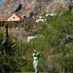 Skyline Country Club - Teeing off in the with golf homes in the background nested in the mountains