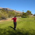Skyline Country Club - Golfer hitting a fairway shot in the Tucson Arizona golf community